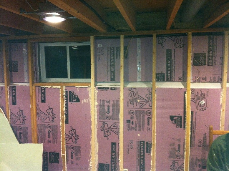 Residential foam insulation foam tech for Types of insulation for basement